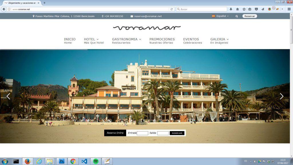 web hotel voramar
