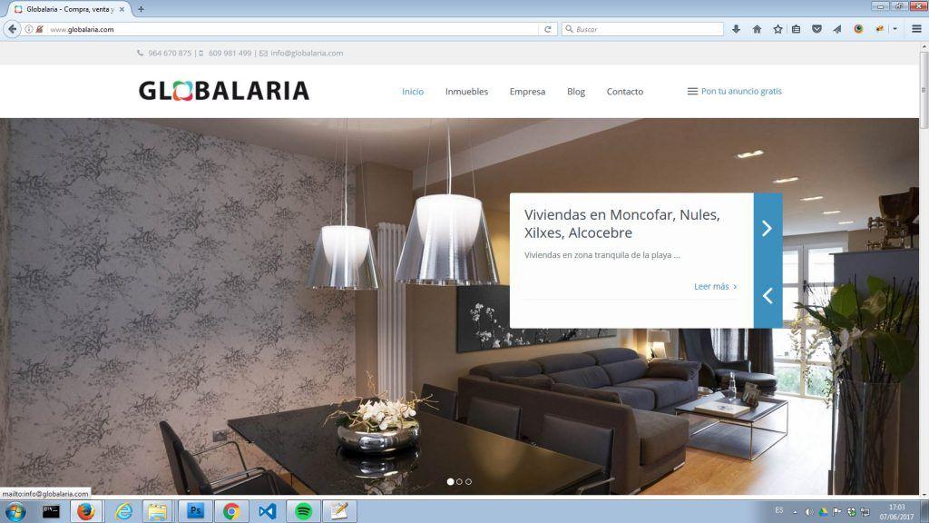 sitio web para una inmobiliaria